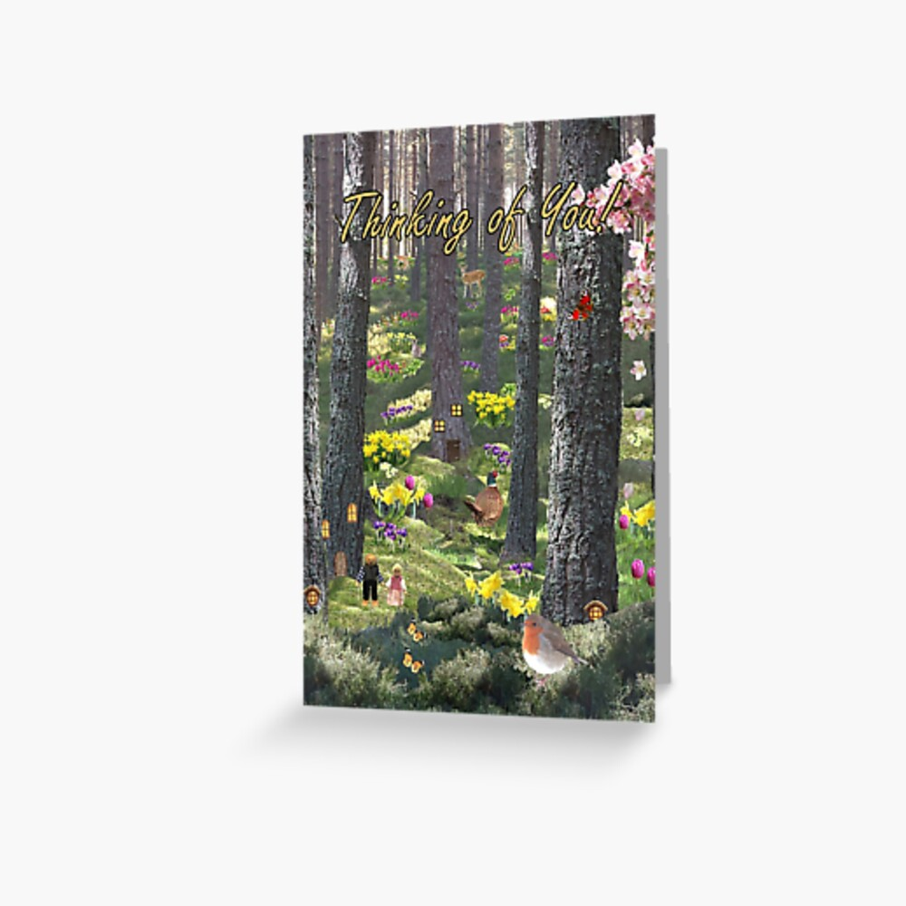 Woodland in Spring - Thinking of You Card Greeting Card