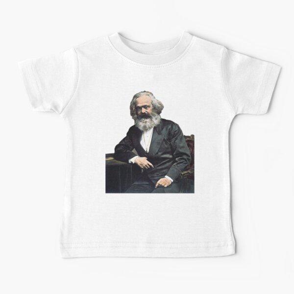 Karl Marx Colorized Portrait - Marxist, Socialist, Philosopher, Historical Baby T-Shirt