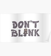 "Doctor Who ""Don't Blink"" Poster"
