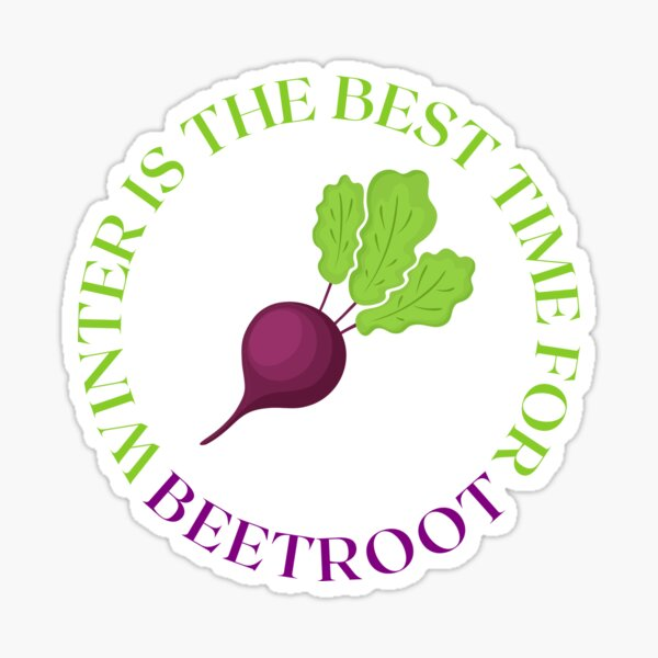 Winter is The Best Time For Beetroot Sticker
