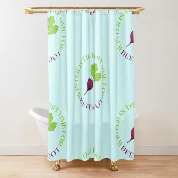 Winter is The Best Time For Beetroot Shower Curtain