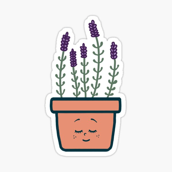 """Cute Potted Plant - """"Sarah"""" Glossy Sticker"""