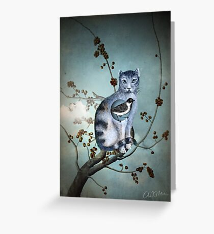 The Blue Cat Greeting Card