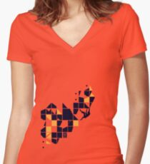 overhang pleasure Women's Fitted V-Neck T-Shirt