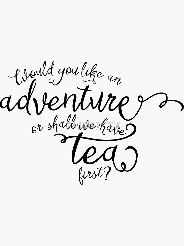 Adventure or tea? by peggieprints