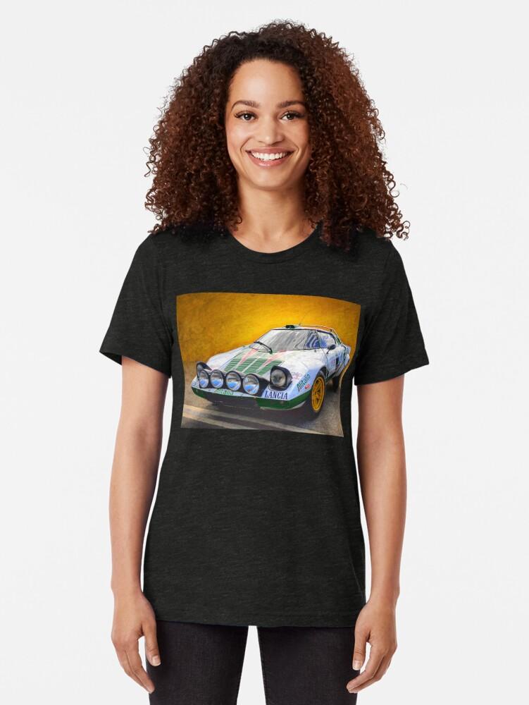 Alternate view of Lancia Stratos Tri-blend T-Shirt