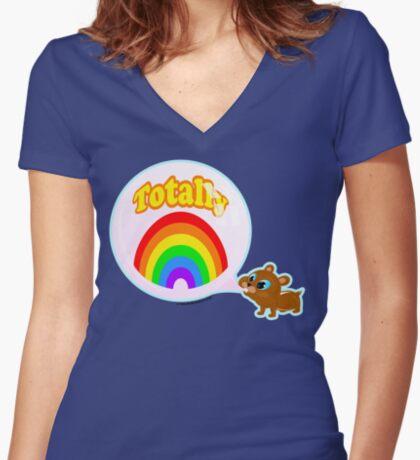 Bubble Gum Bandit! Women's Fitted V-Neck T-Shirt