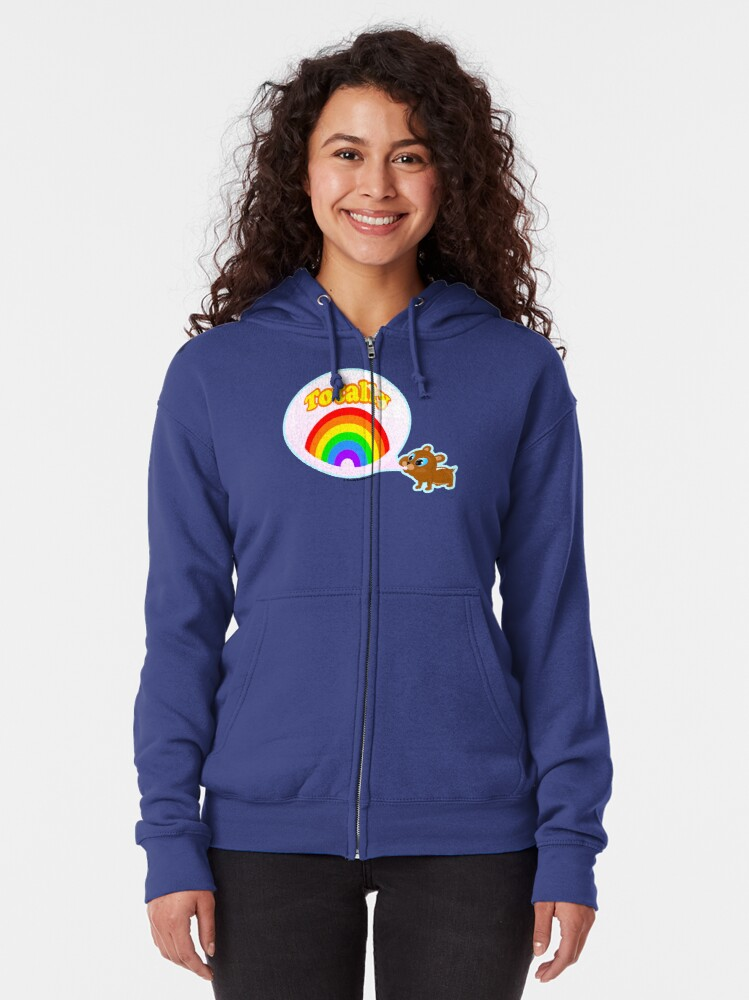 Alternate view of Bubble Gum Bandit! Zipped Hoodie