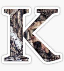 Camo K Sticker