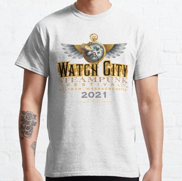 Regarder City Steampunk Festival Moon Logo 2021 T-shirt classique