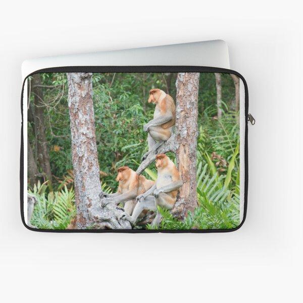 Proboscis Monkey group Laptop Sleeve
