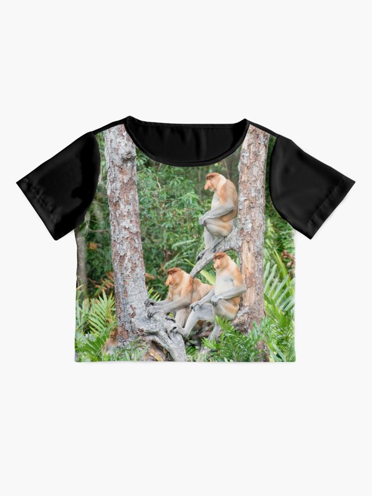 Alternate view of Proboscis Monkey group Chiffon Top