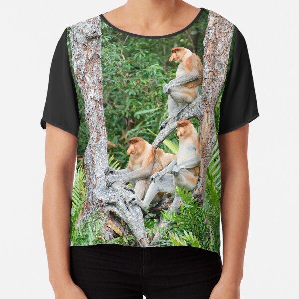 Proboscis Monkey group Chiffon Top