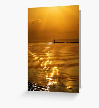 Lismore Lighthouse Sunset Greeting Card
