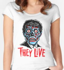 THEY LIVE!!! Women's Fitted Scoop T-Shirt