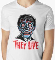 THEY LIVE!!! Men's V-Neck T-Shirt