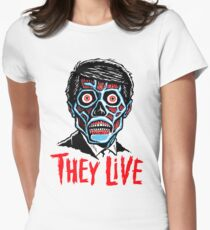THEY LIVE!!! Women's Fitted T-Shirt