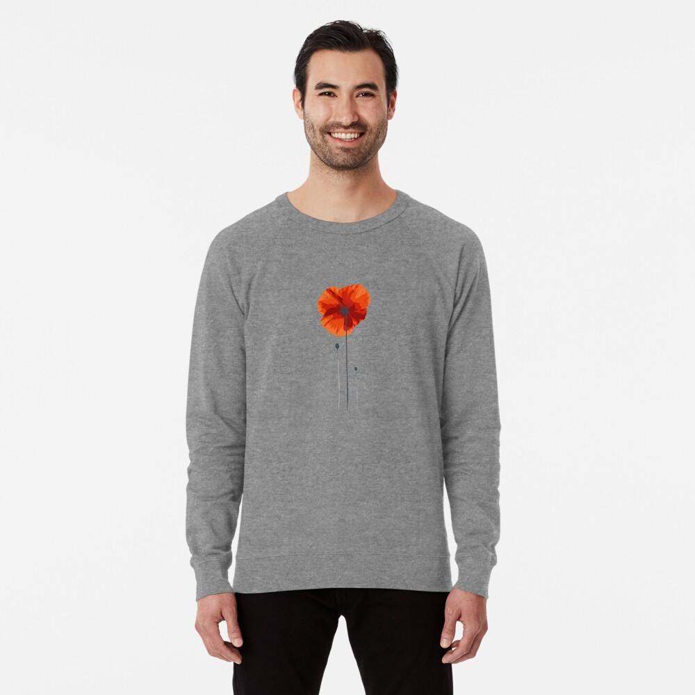 poppy coquelicot Lightweight Sweatshirt Front