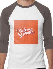 Welcome summer type design. Men's Baseball ¾ T-Shirt