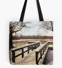 Wintertime At Sheldon Marsh - Overlook Tote Bag