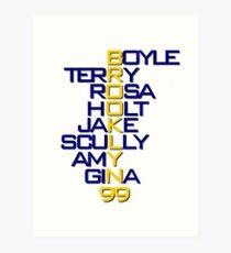 Brooklyn 99 Characters Art Print