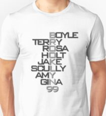 Brooklyn 99 Characters B&W T-Shirt