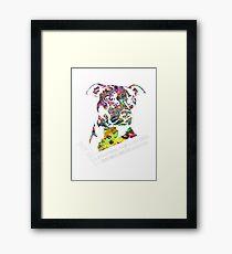 Pitbull BSL White Framed Print
