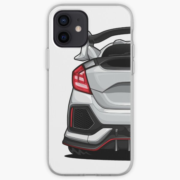 Civic type-R (White) iPhone Soft Case