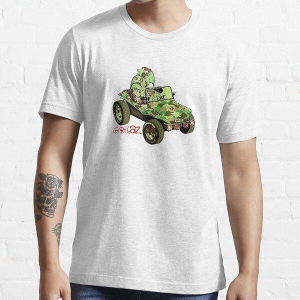 Coche Ejército gorilaz Camiseta esencial