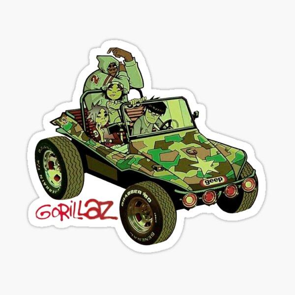 Voiture armée gorilaz Sticker