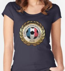 European Championship 2016 Women's Fitted Scoop T-Shirt