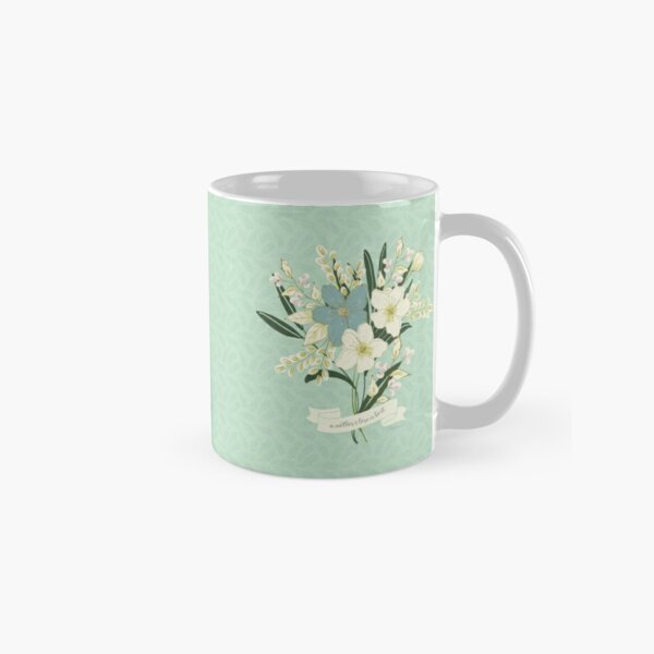 A Mother's Love is Best Illustrated Floral Art Classic Mug