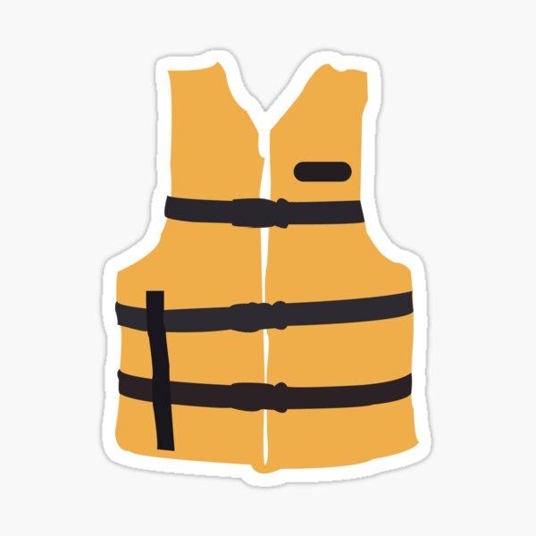 Life Jacket-Yellow Sticker