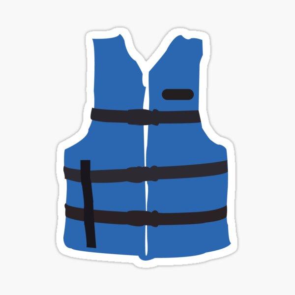 Life Jacket-Blue Sticker