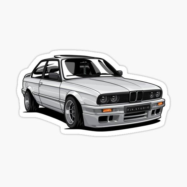 E30 Stance (White) Sticker
