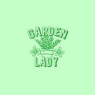Garden Lady (with green pot plant) by jazzydevil