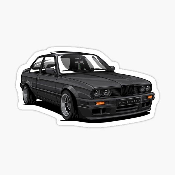 E30 Stance (Black) Sticker
