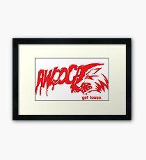 Awooga Wolf Framed Print