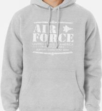 Armed Forces Day - USAF Air Force White Pullover Hoodie