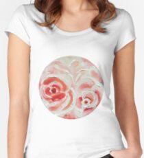 Peach Plums Women's Fitted Scoop T-Shirt