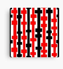 Abstract Columns - Red and Black Canvas Print