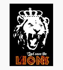 God Save The Lions Photographic Print