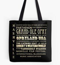 Nashville Tennessee Famous Landmarks Tote Bag