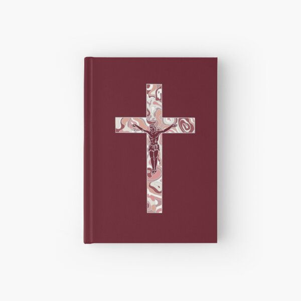 Mother of Pearl Cross  Hardcover Journal