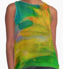 Abstract Palm Art tshirt Contrast Tank