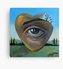 heART - acrylics on canvas Canvas Print