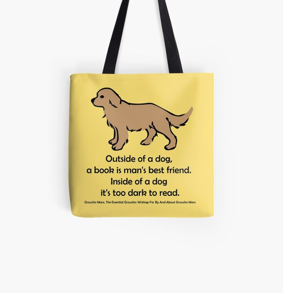 Man's Best Friend All Over Print Tote Bag