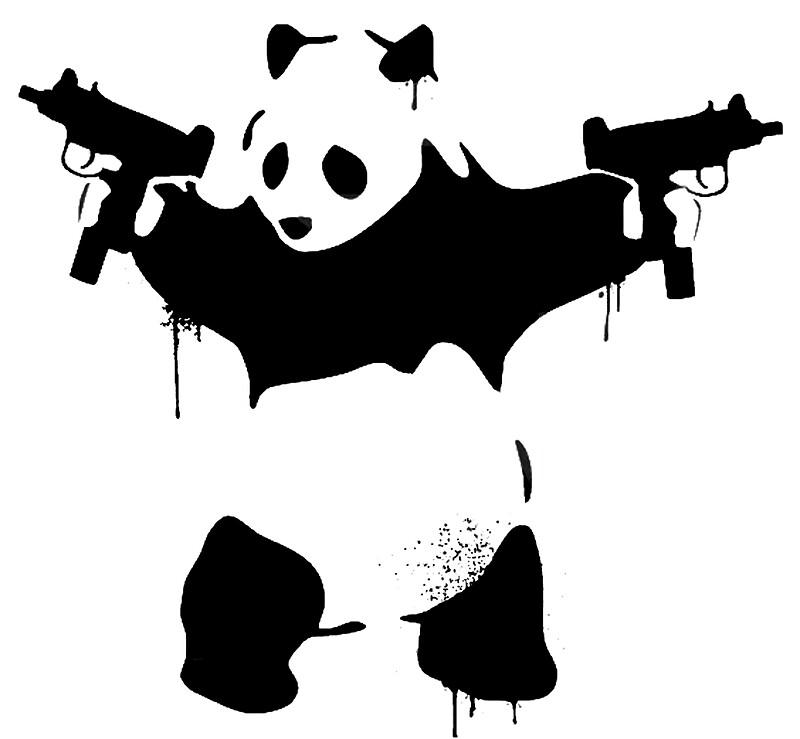 """Bad Panda"" Art Prints by Gerhulk"
