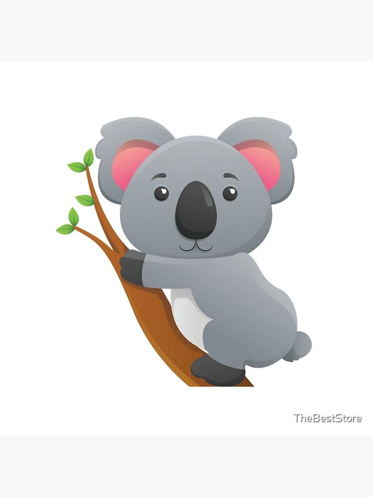 Carte De Vœux Dessin Anime D Ours De Koala Par Thebeststore Redbubble
