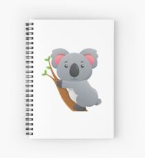 Koala Bear Cartoon Spiral Notebook